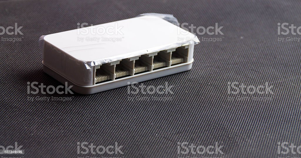 the mini swith for network stock photo