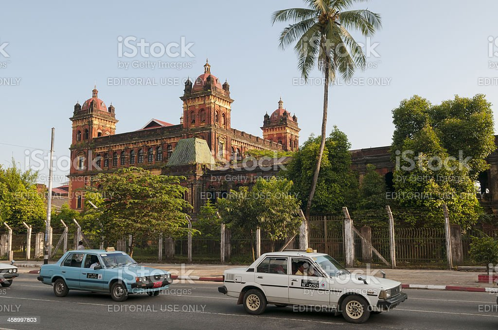 Ministers' Building in Yangon, Myanmar royalty-free stock photo