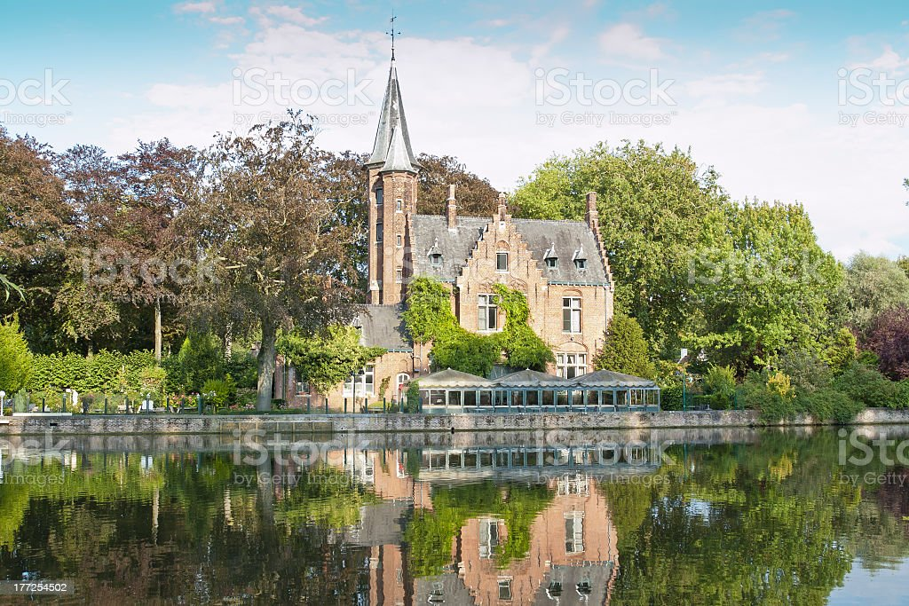 The Minnewater, Brugges royalty-free stock photo