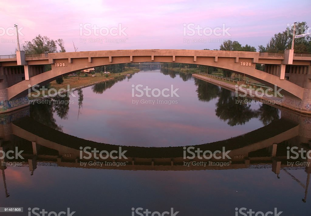 The mirror of Kralupy royalty-free stock photo