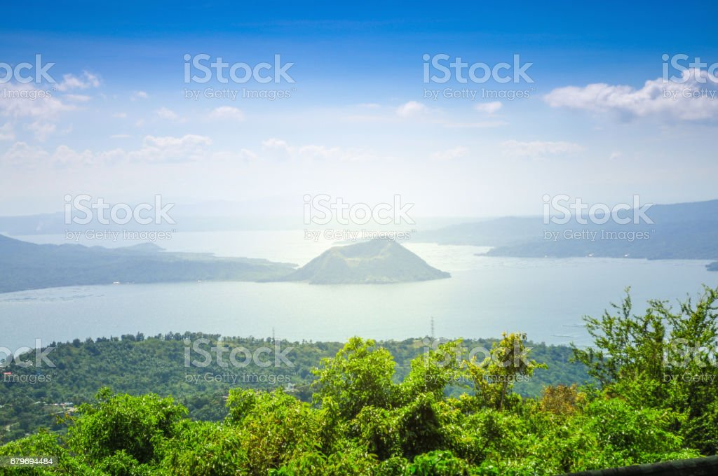 The Misconception of the Taal Volcano. stock photo