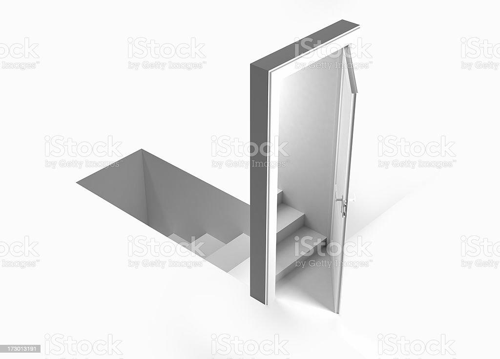 the misleading door stock photo
