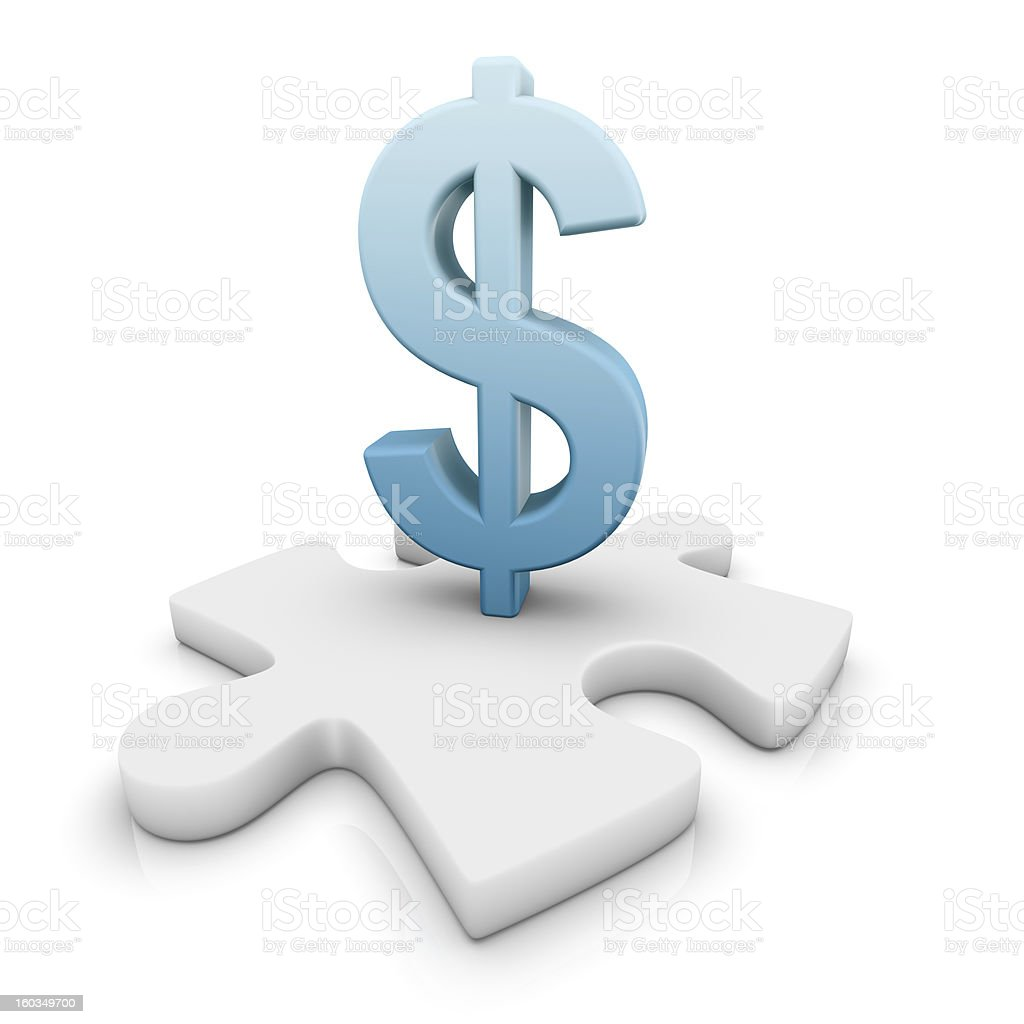 The missing piece: Dollar royalty-free stock vector art