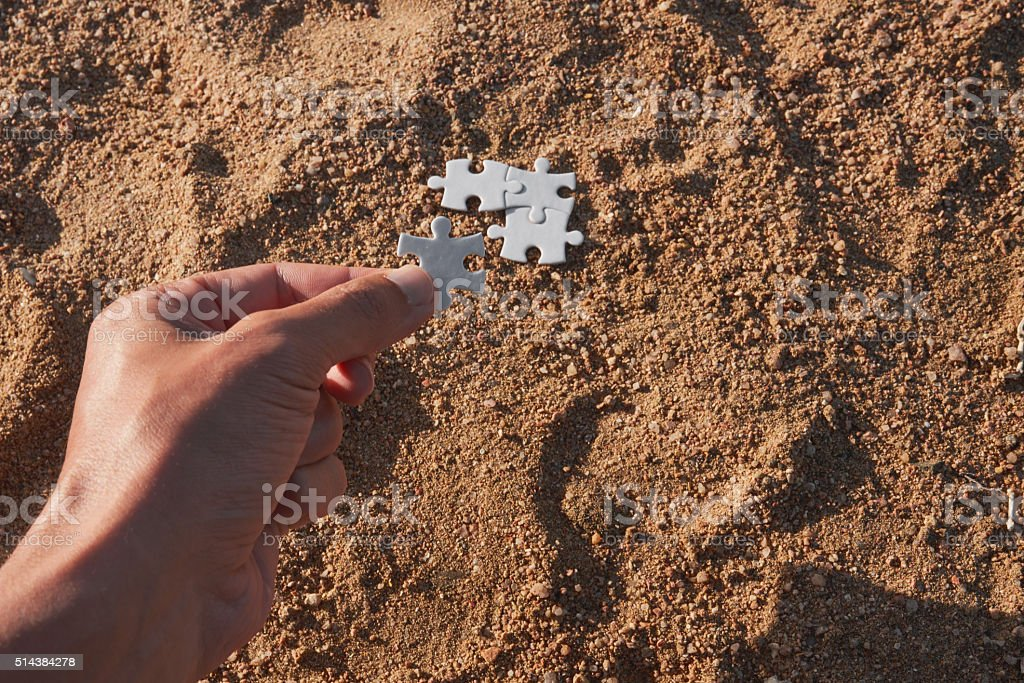 the missing piece stock photo