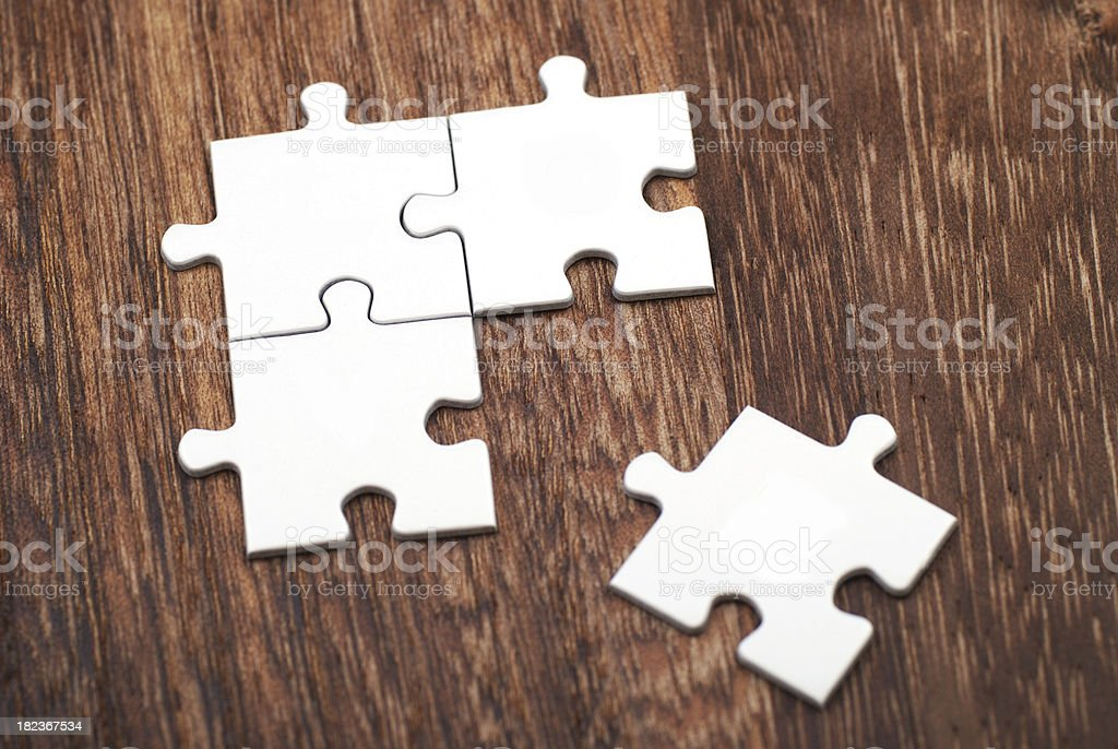 The missing puzzle royalty-free stock photo