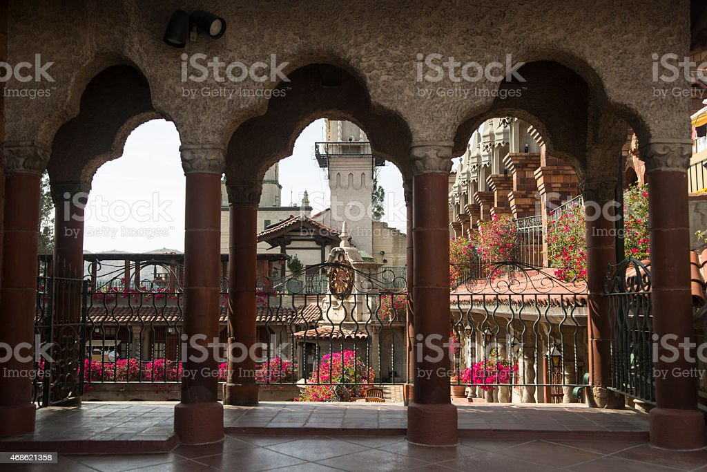 The Mission Inn Arches stock photo