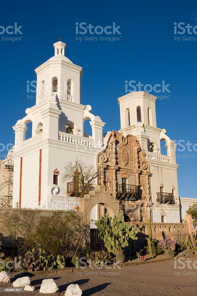 The Mission of San Xavier del Bac royalty-free stock photo