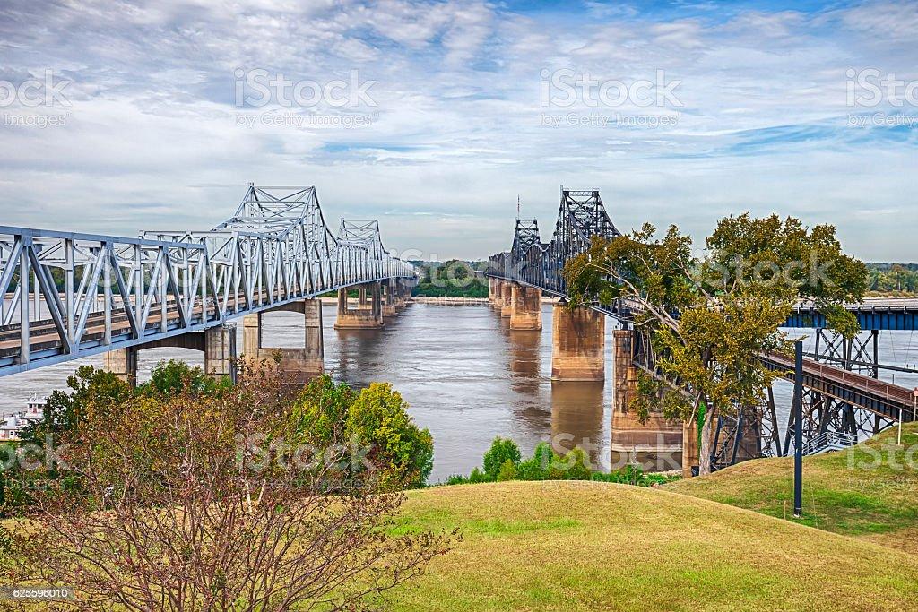 The Mississippi River Near Vicksburg stock photo