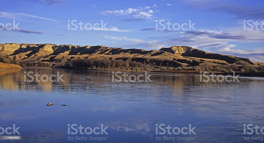 The Missouri River Below Judith Landing royalty-free stock photo