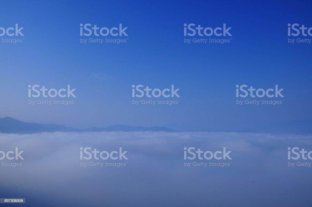 The mist. stock photo