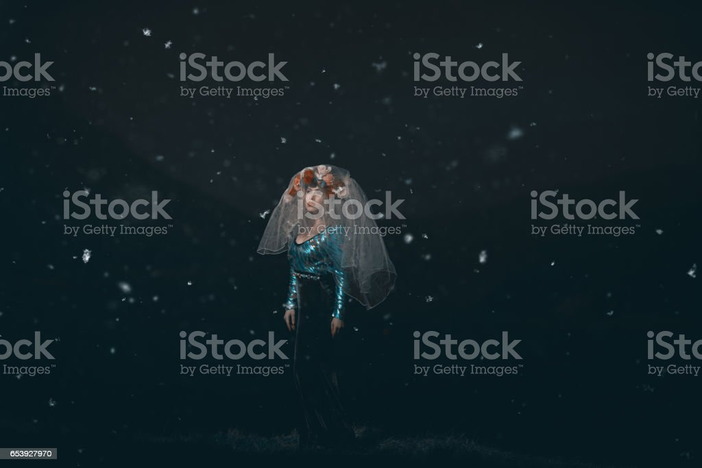 the misterious woman stock photo