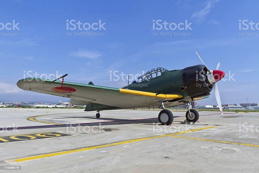 The Mitsubishi A6M Zero WWII stock photo