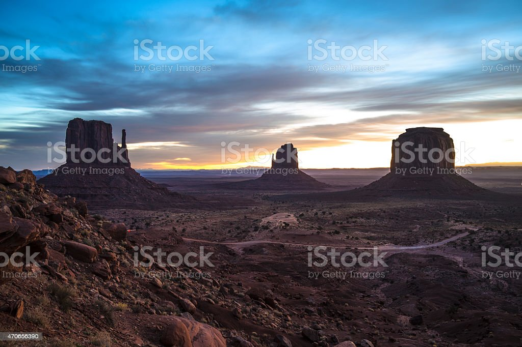 The Mittens and Merrick Butte stock photo