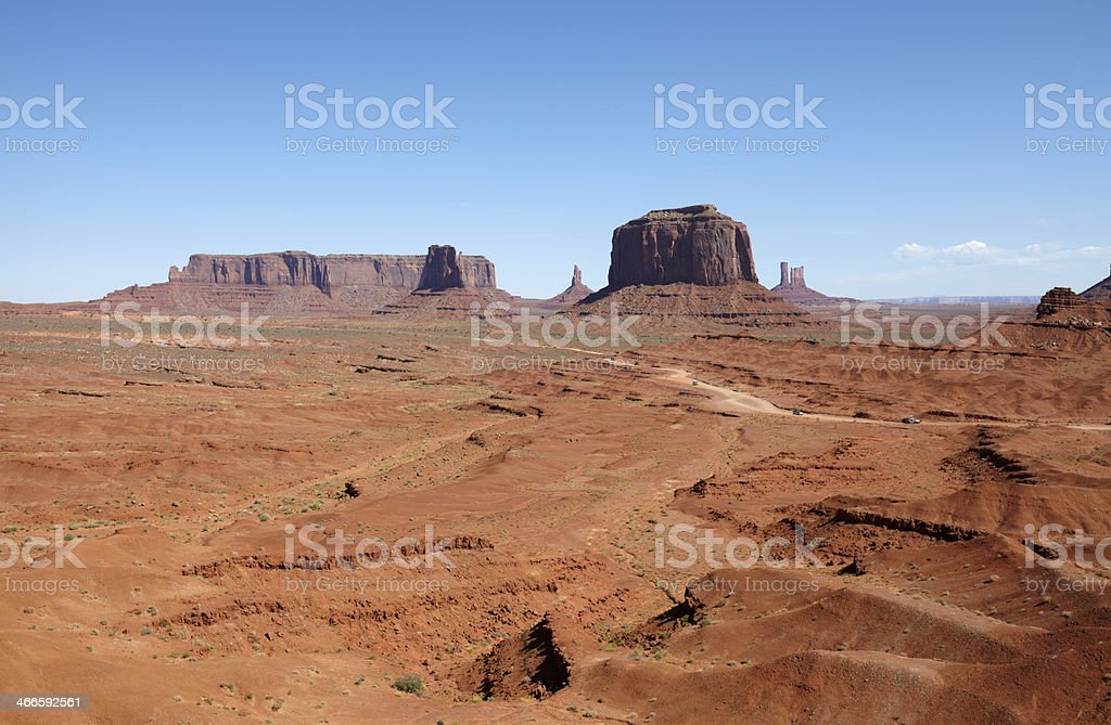 The Mittens from John Fords Point, Monument Valley royalty-free stock photo
