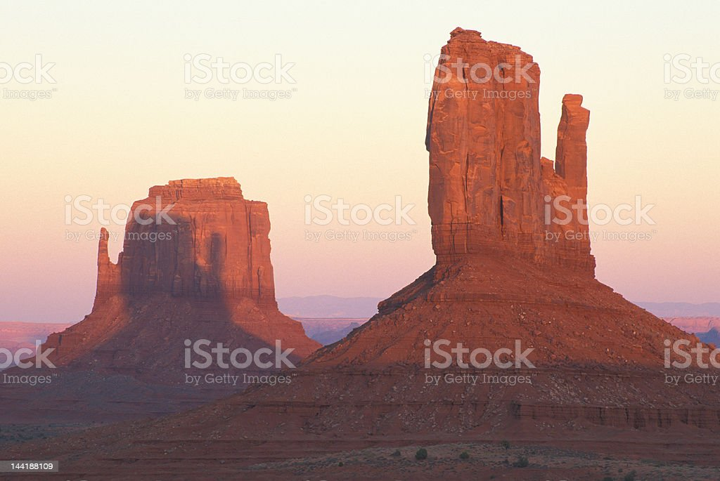 The Mittens in Monument Valley Tribal Park royalty-free stock photo