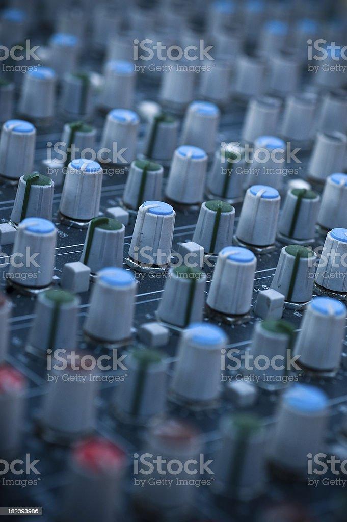 the mixing desk sound studio royalty-free stock photo