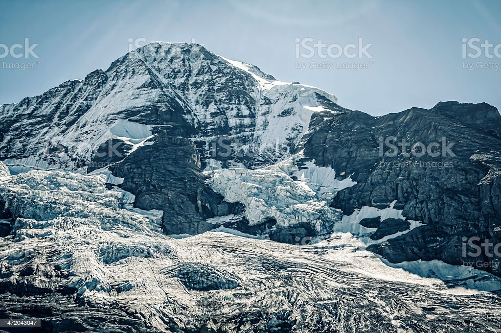 The M?nch, summit in Bernese Alps - III royalty-free stock photo