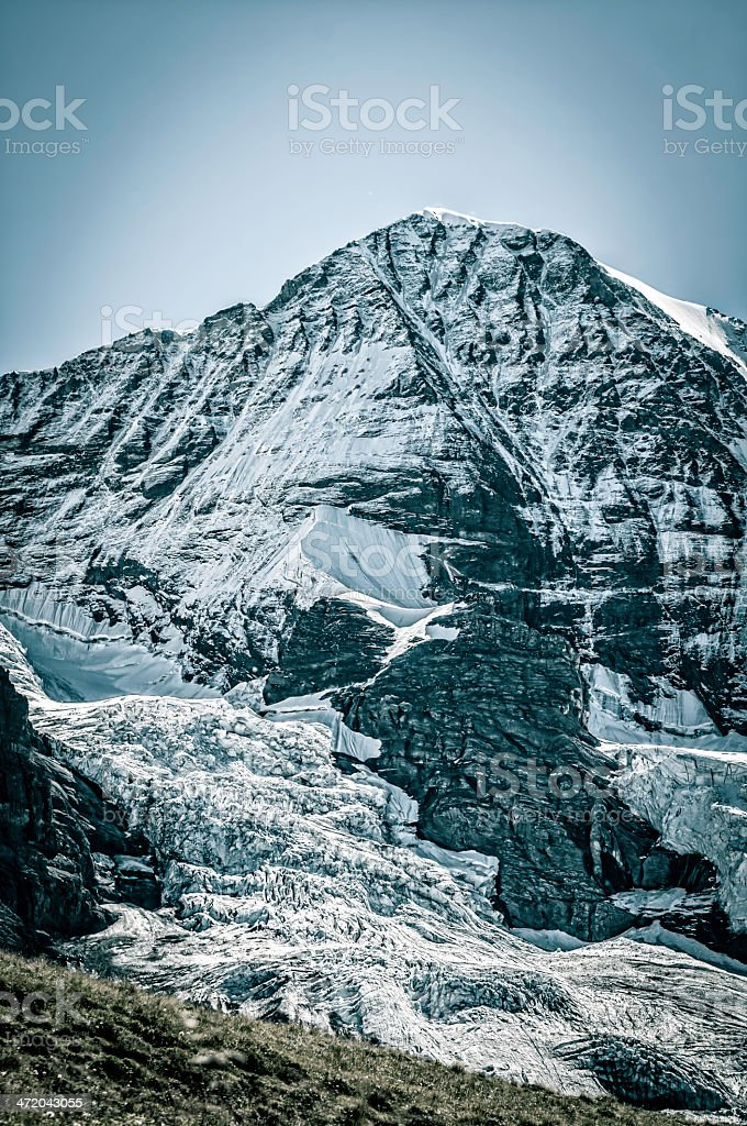 The M?nch, summit in Bernese Alps - V royalty-free stock photo