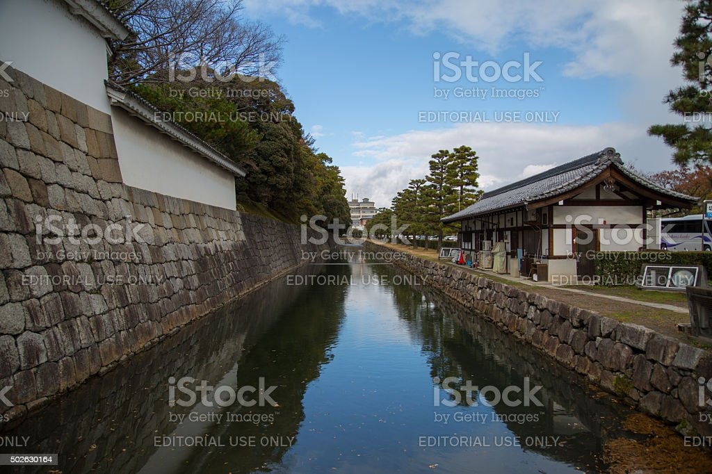 The Moat of Nijo Castle, Kyoto, Japan stock photo