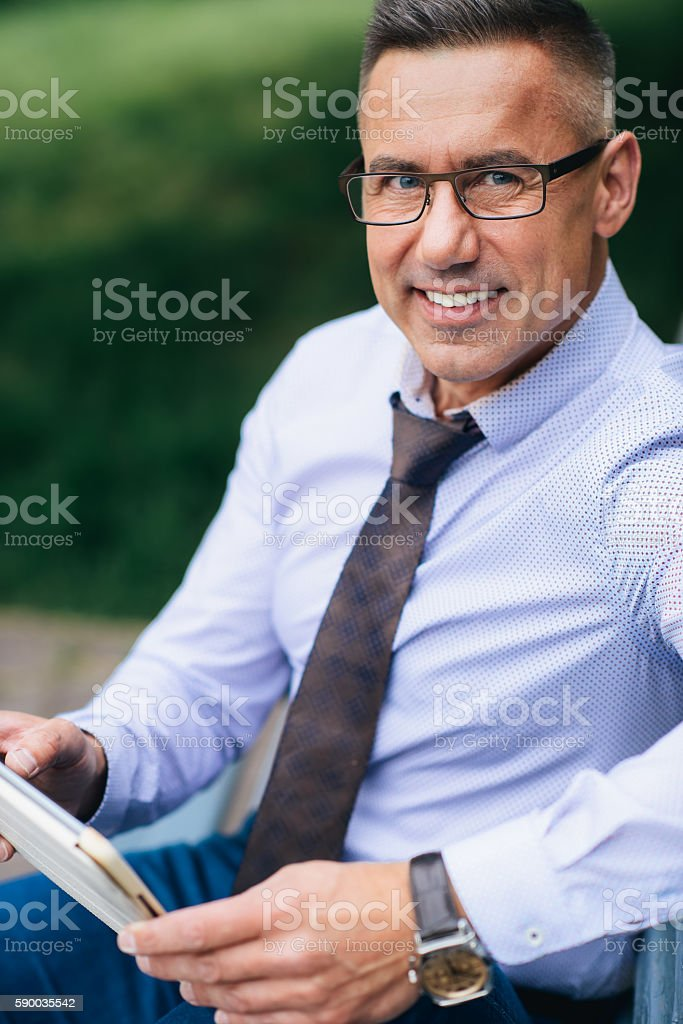 The modern businessman. stock photo