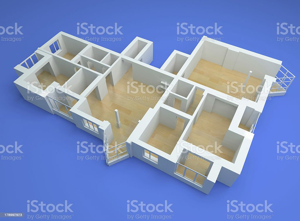 the modern flat stock photo