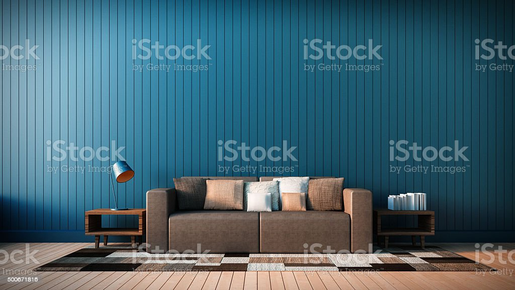 The modern interior of Living Area and Soft Sofa stock photo