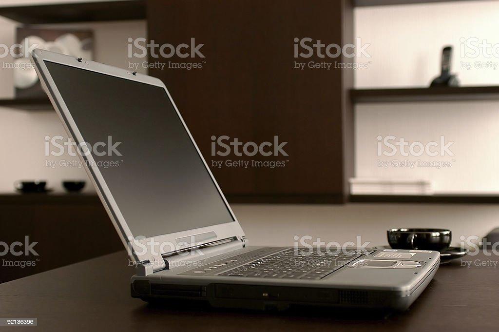 The modern laptop royalty-free stock photo