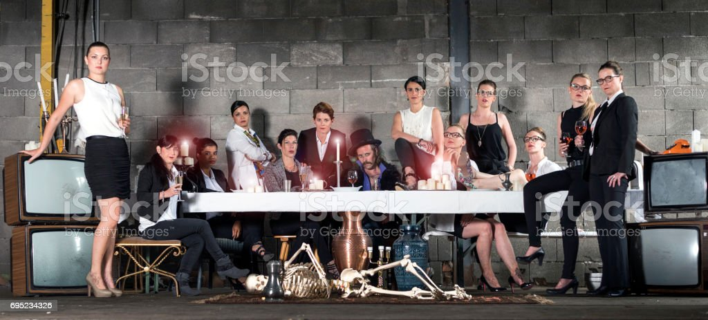 The modern last supper stock photo