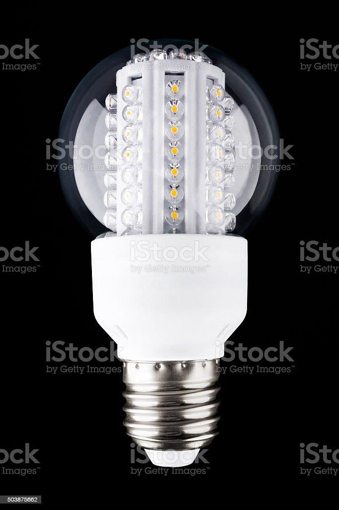 The modern LED light bulb stock photo