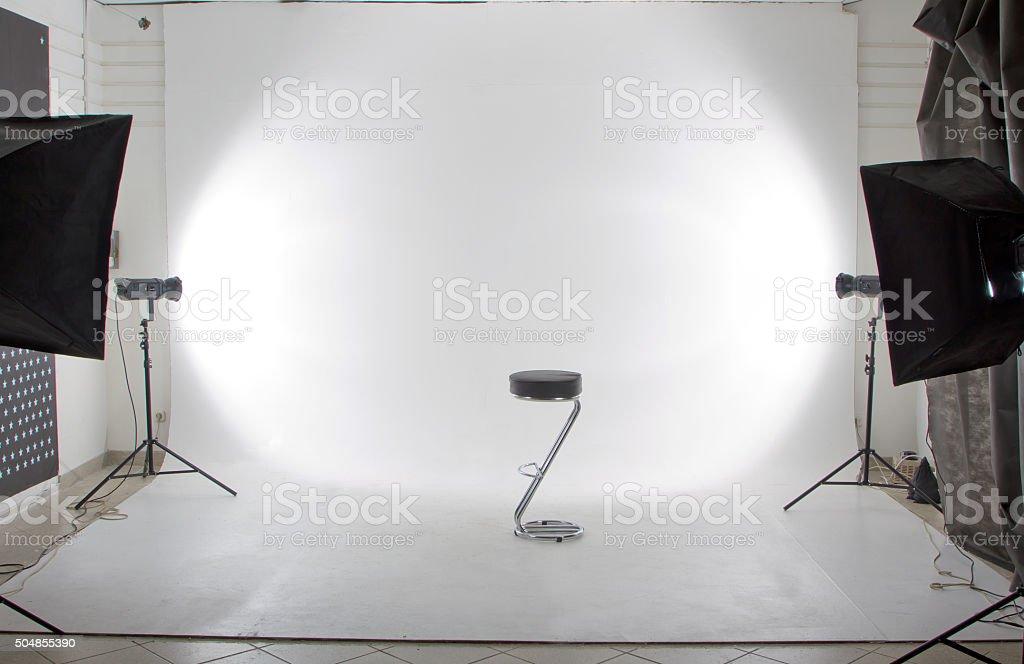 The modern photo and video studio stock photo