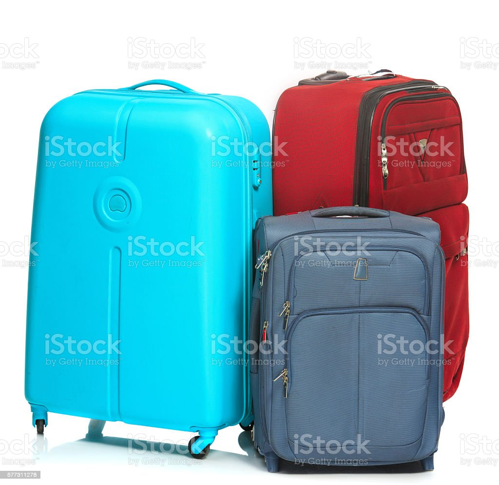 modern suitcases buying new luggage could save you money gephardt  - the modern suitcases on white background stock photo