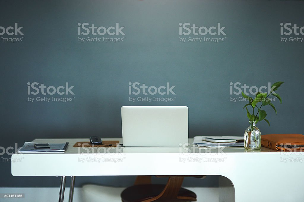 The modern way to work stock photo