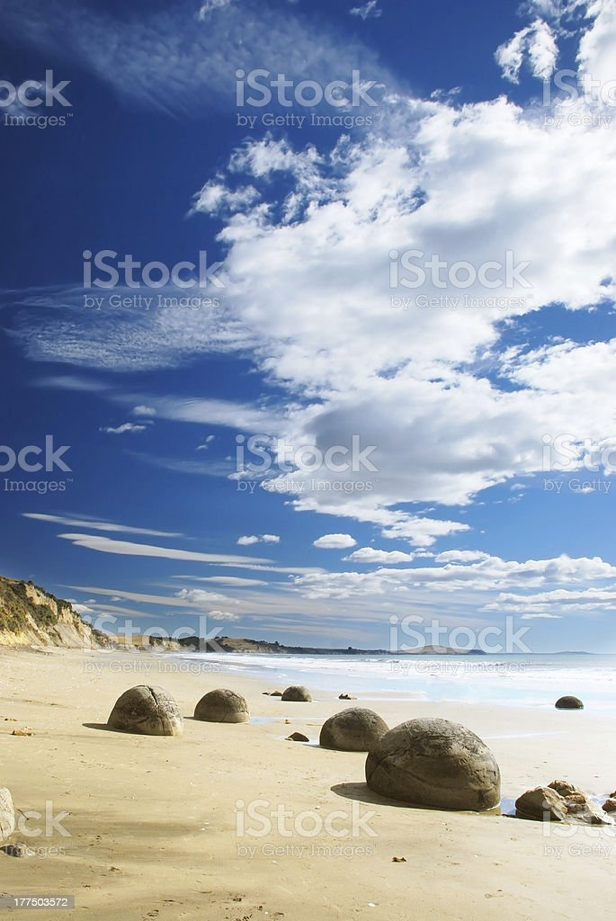 The Moeraki Boulders stock photo