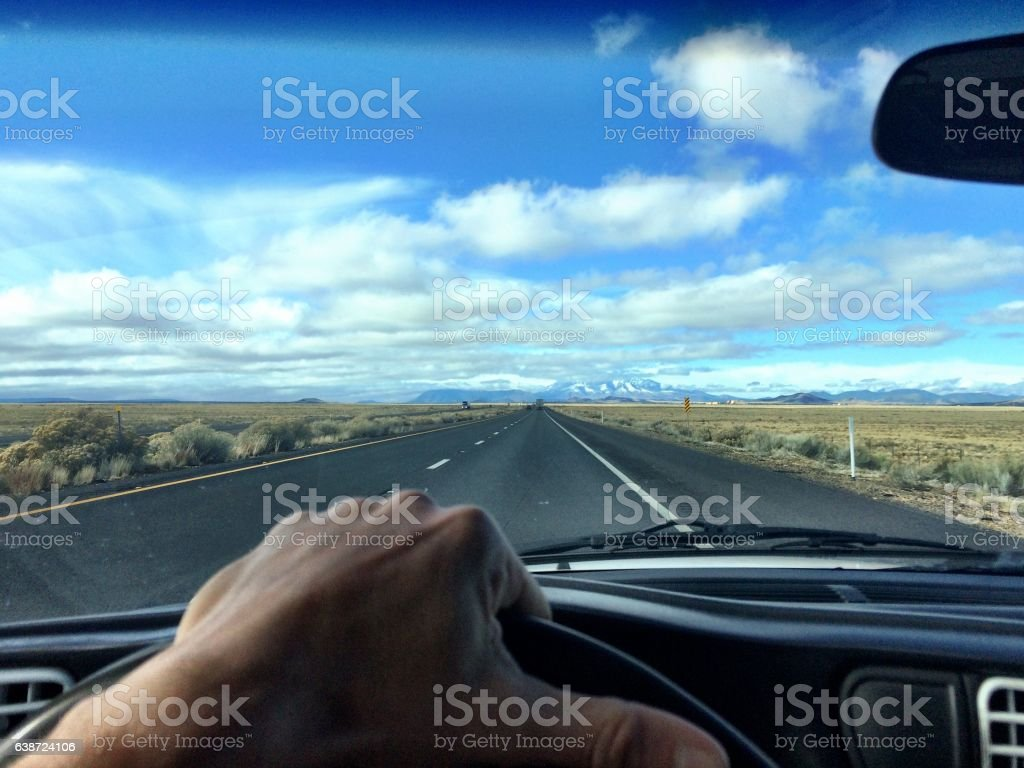 The Mojave Desert drive stock photo