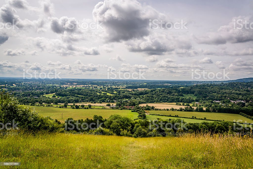 The Mole valley in Surrey, England, UK stock photo