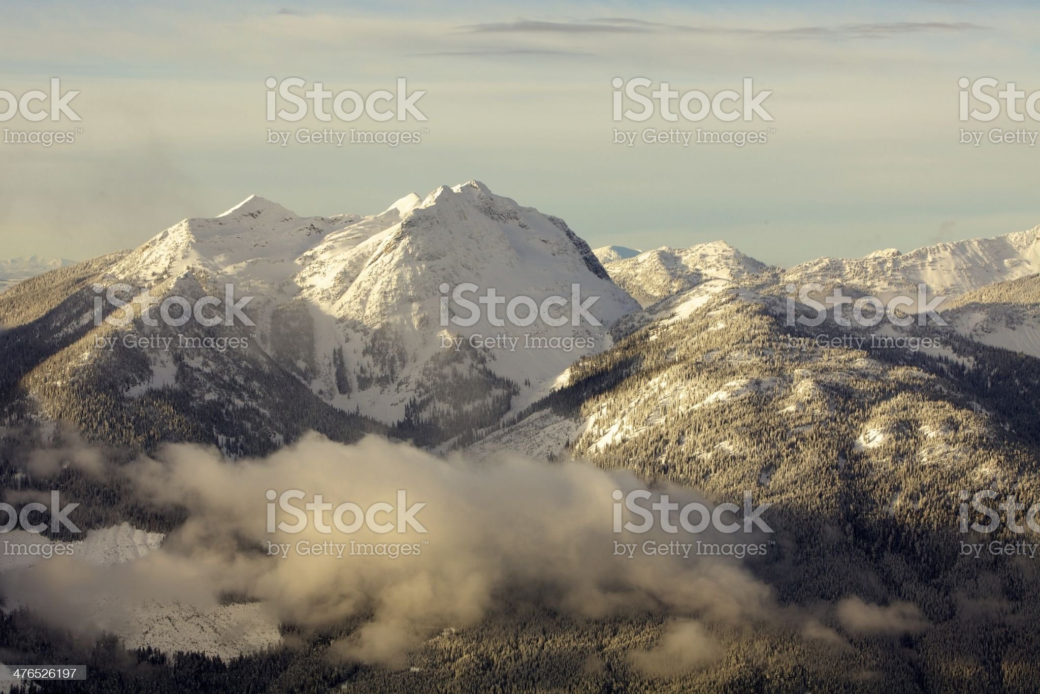 The Monashee Mountains British Columbia Canada royalty-free stock photo