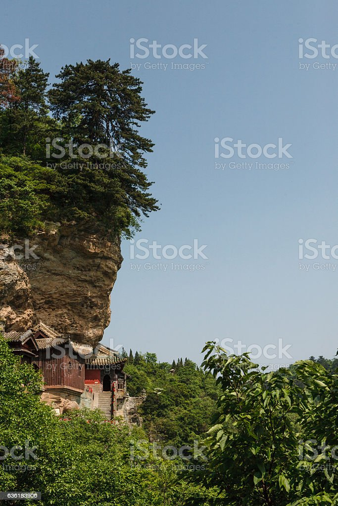 The monasteries of Wudang Mountains stock photo