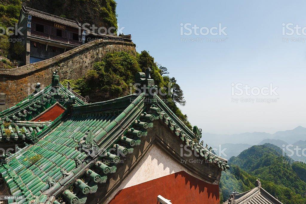 The monasteries of wudangquan stock photo