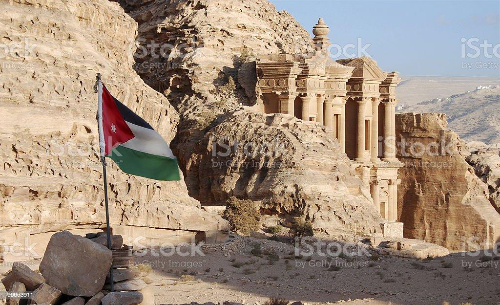 The monastery at Petra stock photo