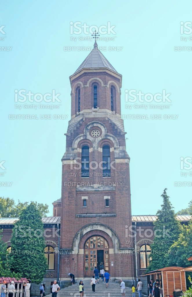 The monastery Curtea de Arges from Romania, the Chapel stock photo