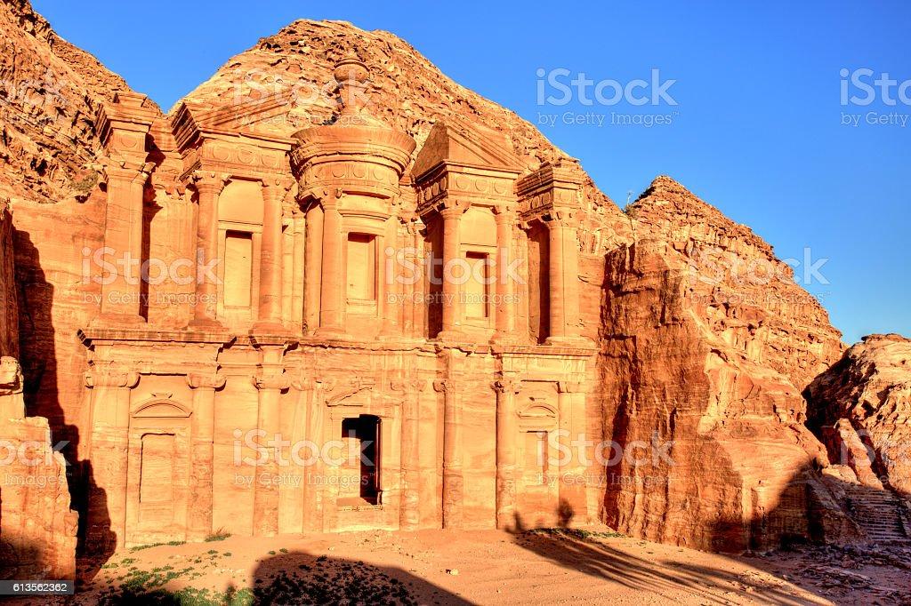 The Monastery (El Dayr) in Petra Ancient City, Jordan stock photo
