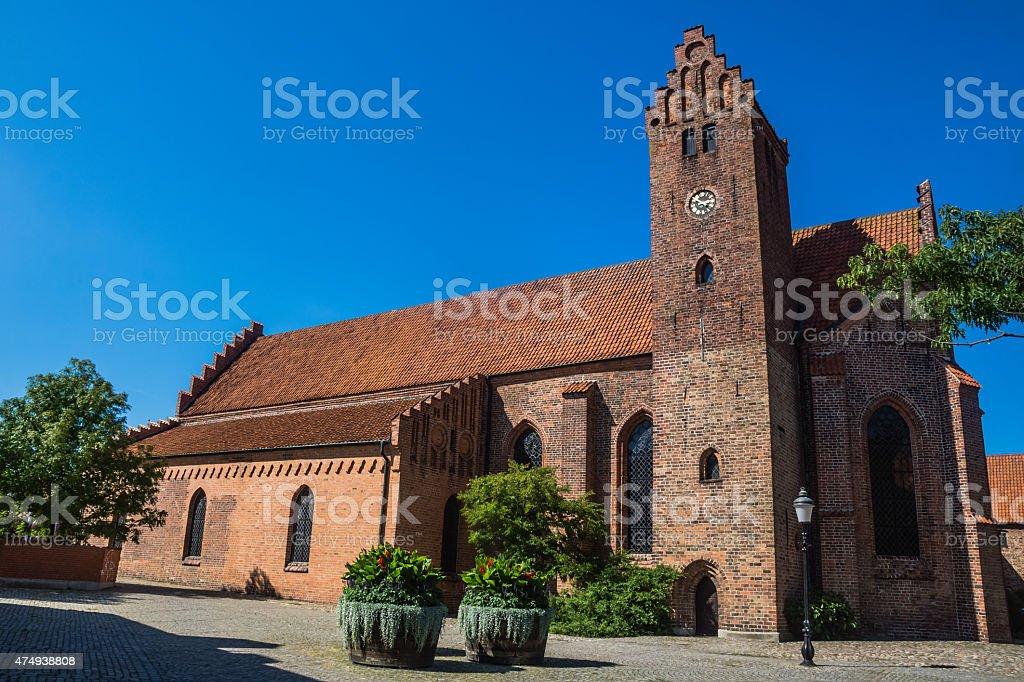 The Monastery Klosteret  in Ystad stock photo