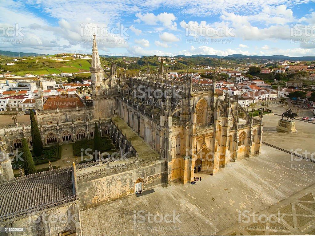 The Monastery of Batalha aerial view stock photo