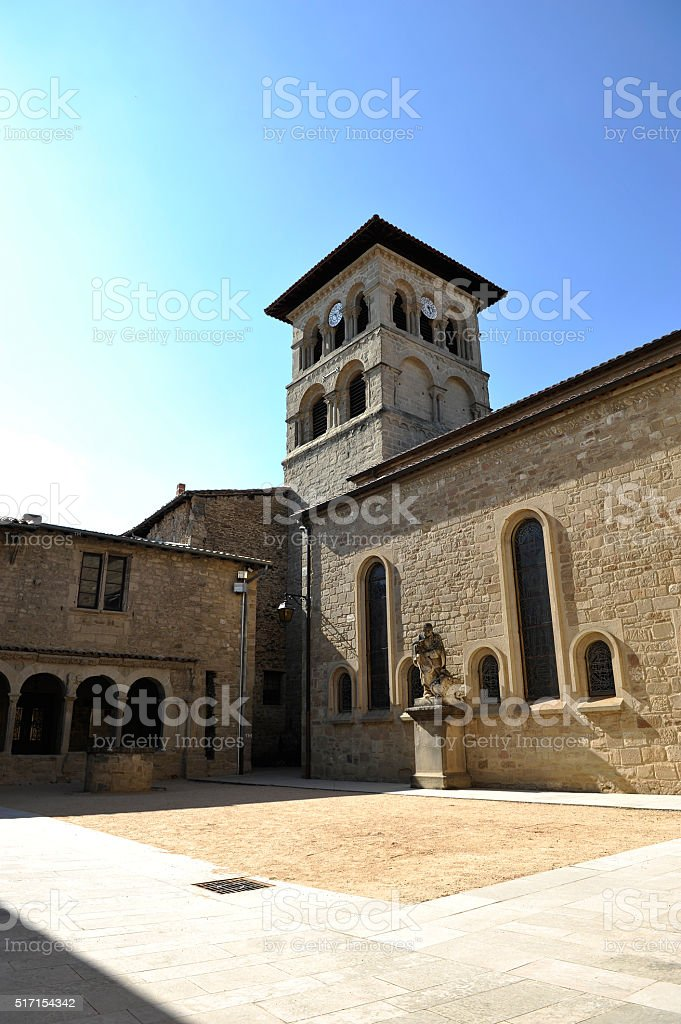 The monastery of Saint-Donat-sur-l'Herbasse (Drôme) stock photo