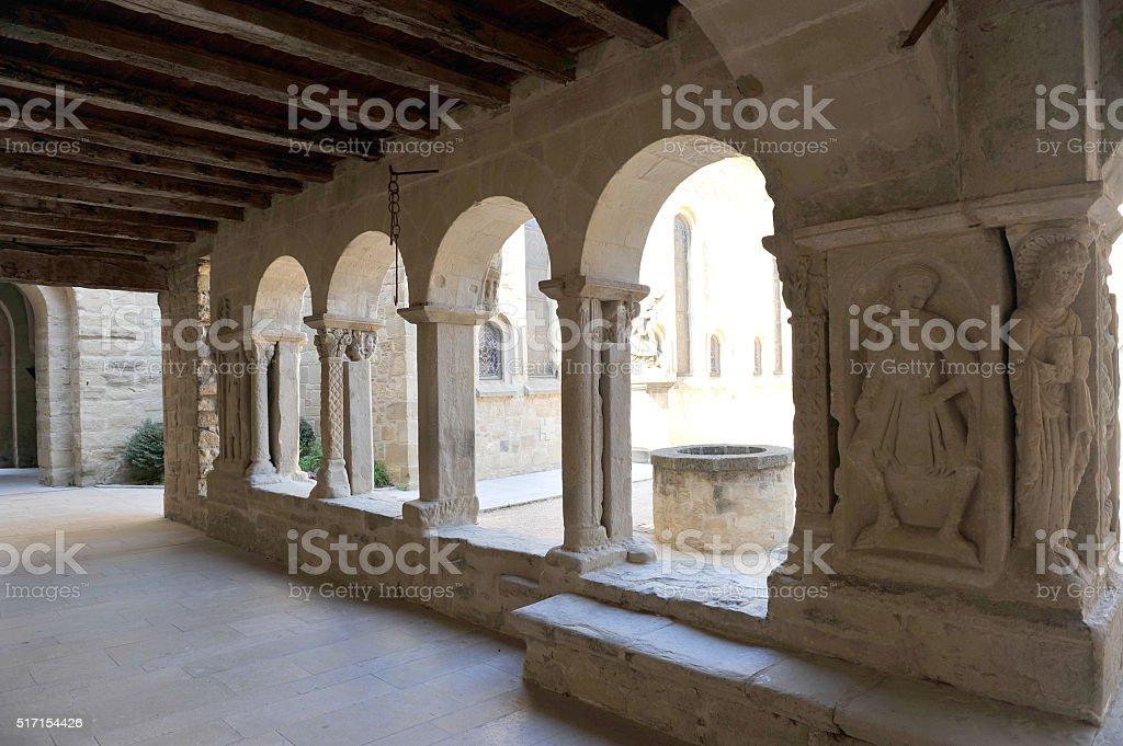 The monastery of Saint-Donat-sur-l'Herbasse (Drôme) stock photo