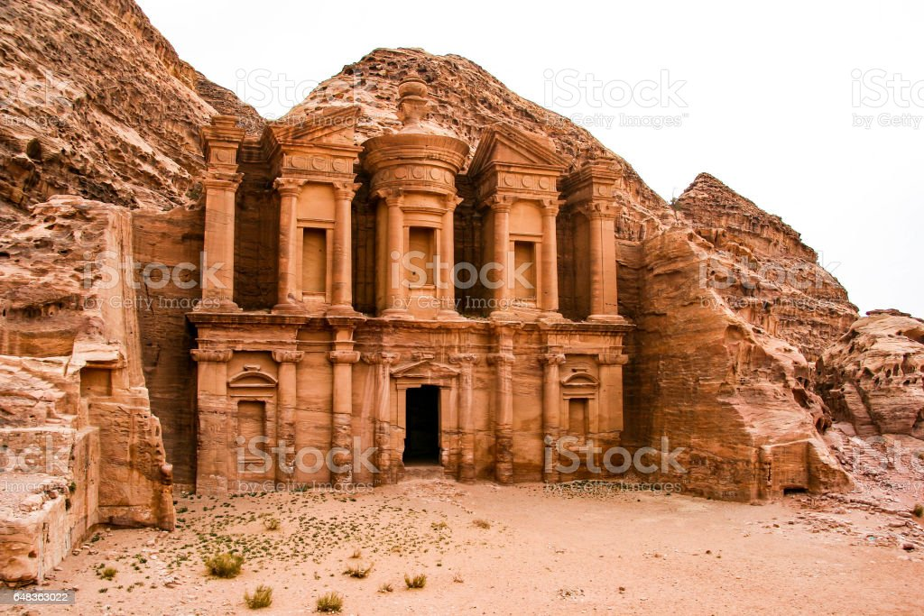 The Monastery, Petra, Jordan stock photo