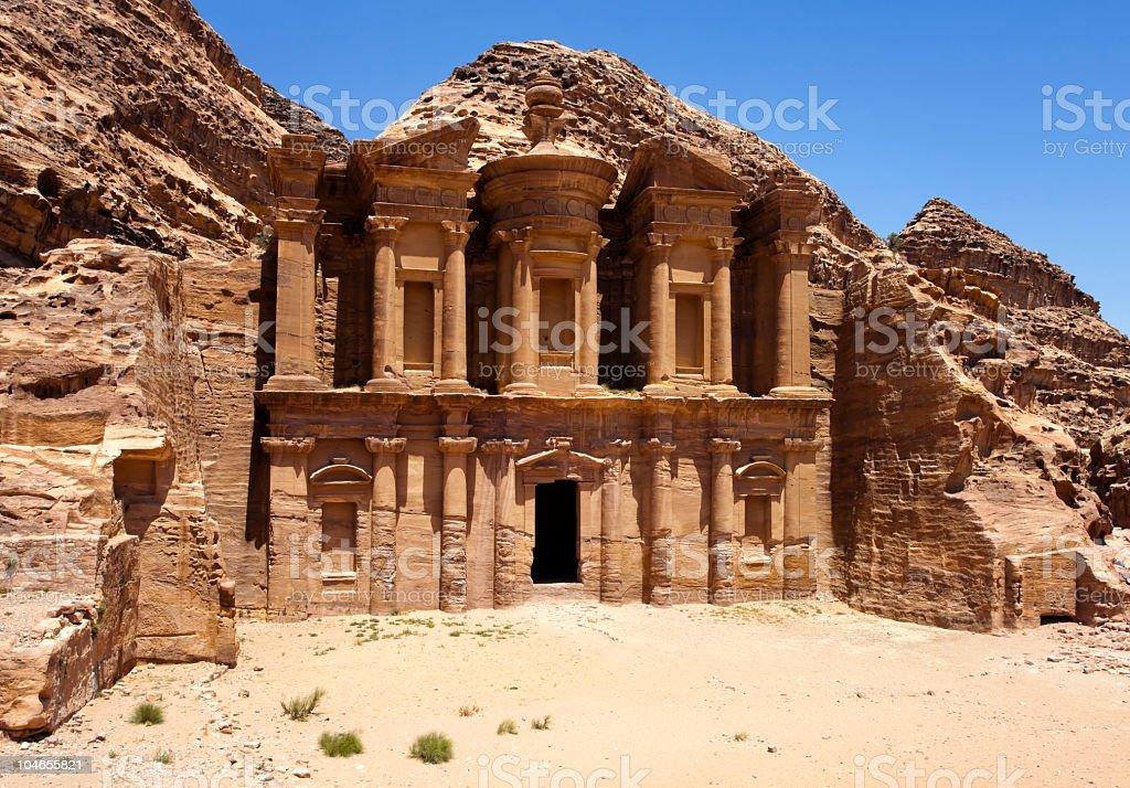 The Monastery / Petra royalty-free stock photo
