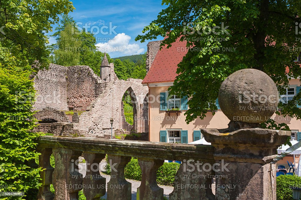 The monastery ruins of All Saints Allerheiligen in Oppenau stock photo