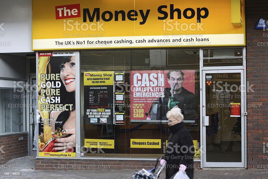 The Money Shop royalty-free stock photo