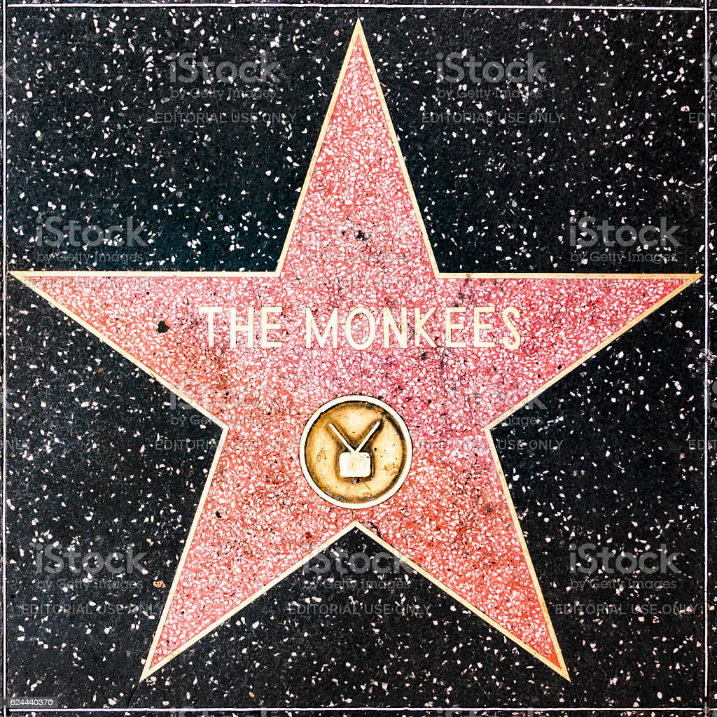 The Monkee star on Hollywood Walk of Fame stock photo